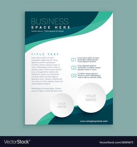Business Flyer Phlet Brochure Design Template Vector Image Brochure Design Templates Free