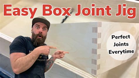easy box joint jig box joints youtube