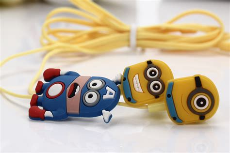 Headset Karakter Minion earphone minion yellow jakartanotebook