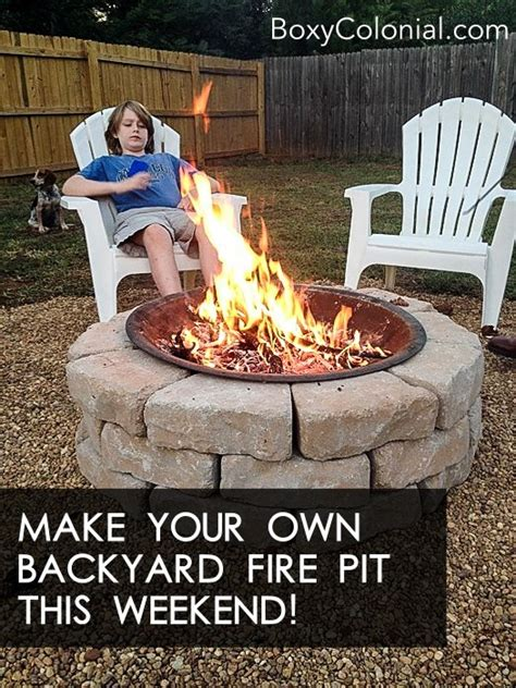 make your own diy backyard pit cheap weekend project