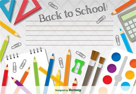 School Templates by Back To School Template Free Vector Stock