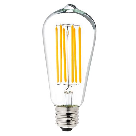 edison light bulb led st18 led filament bulb 55 watt equivalent vintage light