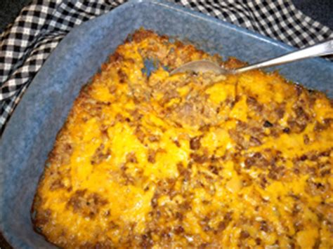 recipetips now hamburger casserole cheesy sausage and rice casserole