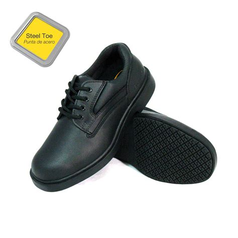 most comfortable slip resistant work shoes genuine grip men s slip resistant steel toe oxfords work