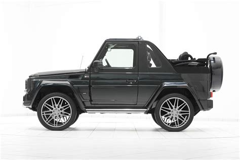 mercedes jeep convertible brabus g class cabrio looks too evil for st tropez