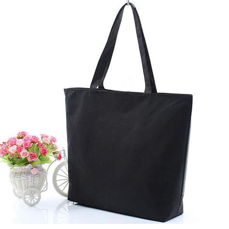 7886 Black White Tote Bag wholesale blank s casual tote bag durable canvas