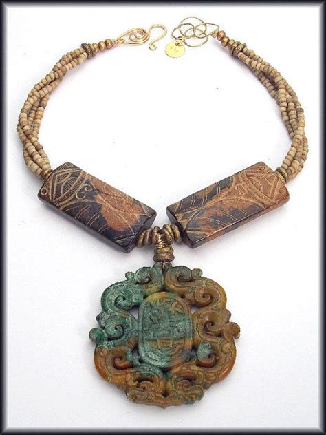 Handmade Necklace Singapore - singapore handcarved jade handmade by sandrawebsterjewelry