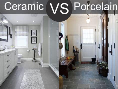 ceramic vs porcelain