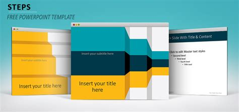 powerpoint layout title text content steps powerpoint template