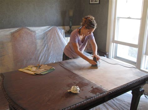 refinishing dining table without sanding refinishing the dining room table a a and a
