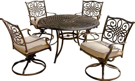 hanover traditions 5 outdoor dining set with swivel