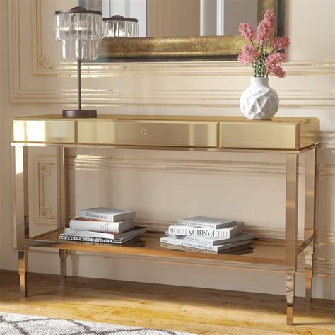 mirrored console table willa arlo interiors calisto mirrored console table