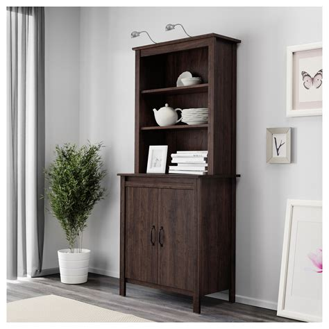 brusali high cabinet with door ikea brusali high cabinet with door brown 80x190 cm ikea