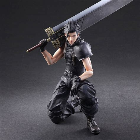 Zack Fair Final Fantasy Vii Crisis Core Play Arts Action Figure   play arts kai crisis core zack fair action figure soldier