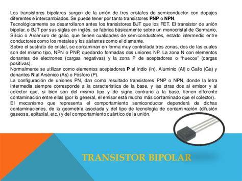transistor bipolar y fet transistores jfet y mosfet