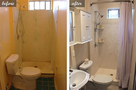 pictures of small bathroom remodel master before after