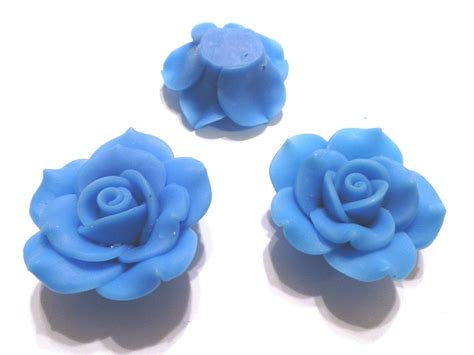 fimo clay 3 fimo polymer clay blue flower fimo 40mm