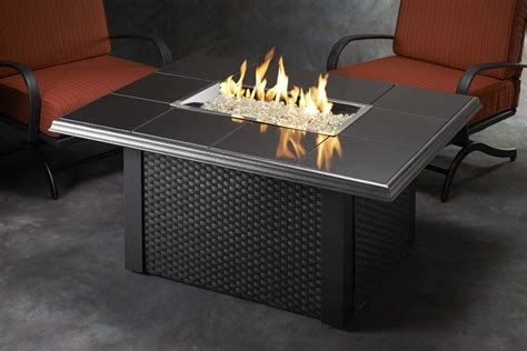 Outdoor Greatroom Napa Valley Gas Fire Pit Coffee Table Coffee Table With Pit