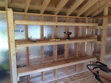 How To Build A Shelf In A Shed by Diy Storage Shelving For Our Shed Diy Danielle