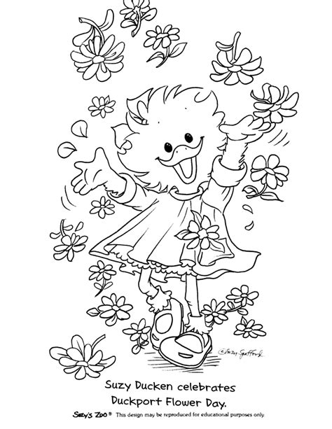 susie s whimsical coloring book for all ages books suzy zoo coloring pages coloring home