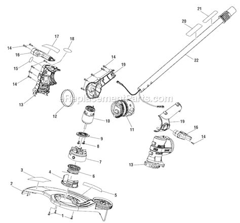 ryobi string trimmer parts diagram ryobi ry40021 parts list and diagram ereplacementparts