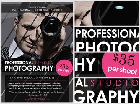 templates for photography flyers free photography flyer templates