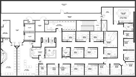 construction office layout plan sle 5 physician floor plan at medical pavilion south