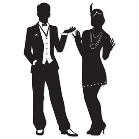Fringe Home Decor by Gatsby Roaring 20s Couple Silhouettes Party Decorations Ebay
