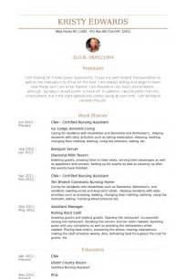 certified nursing assistant resume sles visualcv