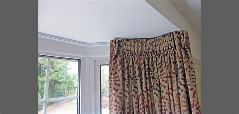 bay window curtain track corded curtains