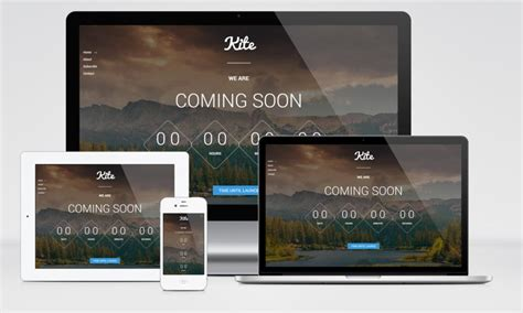 free responsive coming soon page template kite responsive coming soon html5 template