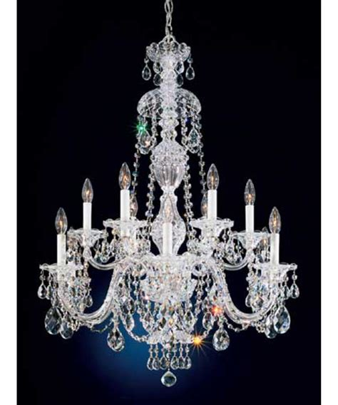 Chandeliers Schonbek Schonbek Lighting Shown In Antique Silver Finish And Bell Shade Scalloped Shade Shown In