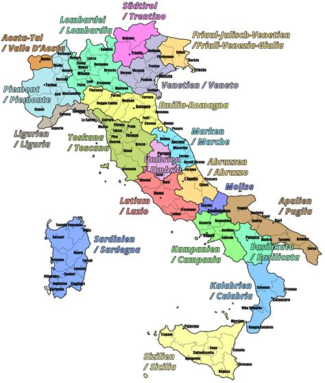 karte deutschland italien weing 252 ter weinregionen und weinanbaugebiete in italien