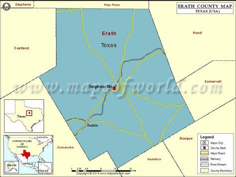 erath county texas map erath county map map of erath county texas