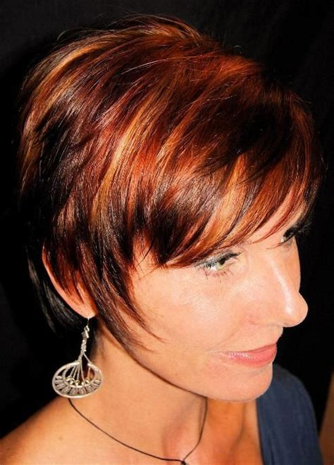 dark red color hair cut highlights on red hair photos labels red hair