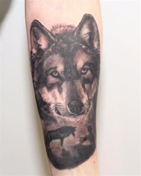 tattoo convention oberhausen wolf tattoo gestochen von mischa auf der oberhausener