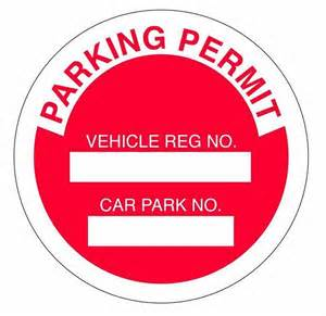 parking permit templates pin tags characters colours doodles poster on