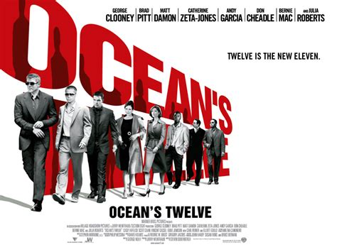 ocean twelve oceans twelve movie poster ocean s twelve images