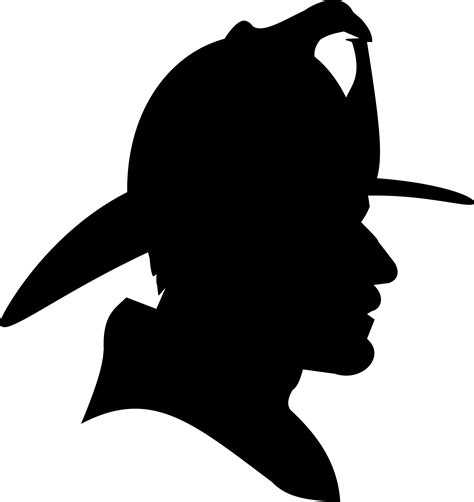 clipart firefighter profile silhouette