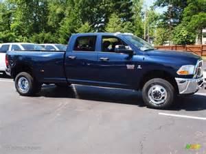 Dodge Ram True Blue Pearlcoat 2012 True Blue Pearl Dodge Ram 3500 Hd St Crew Cab 4x4