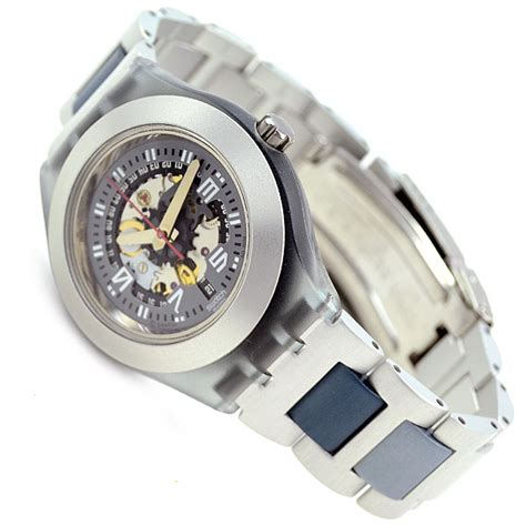 Swatch Seri Aotomatic swatch uhr irony diaphane automatic aluminiumband in the