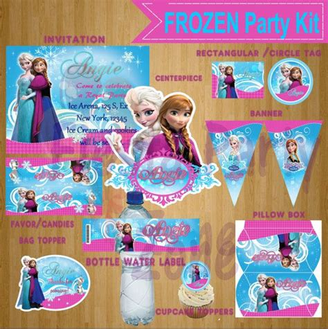 printable frozen set frozen frozen party kit frozen party set frozen