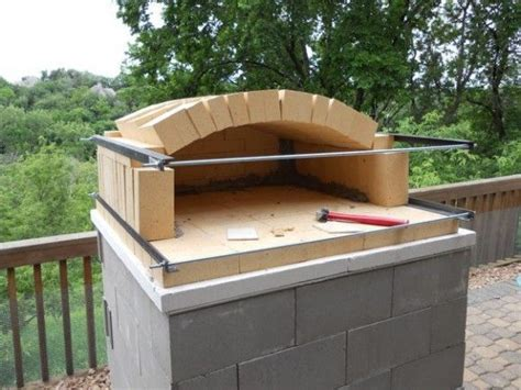 build  temporary wood fired brick pizza oven