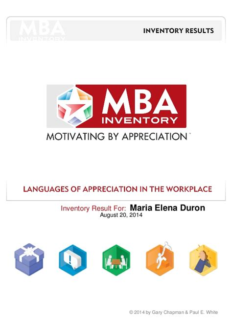 Mba Cus Result 2014 by Mba Managing By Appreciation Inventory Results 2014