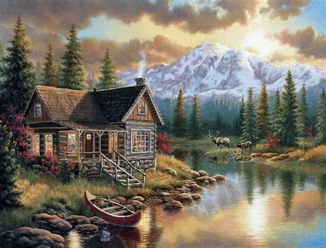 Perre Mountain Cabin 500 Pieces 1 119 best darrell bush and other similar images on paintings cottages and etchings