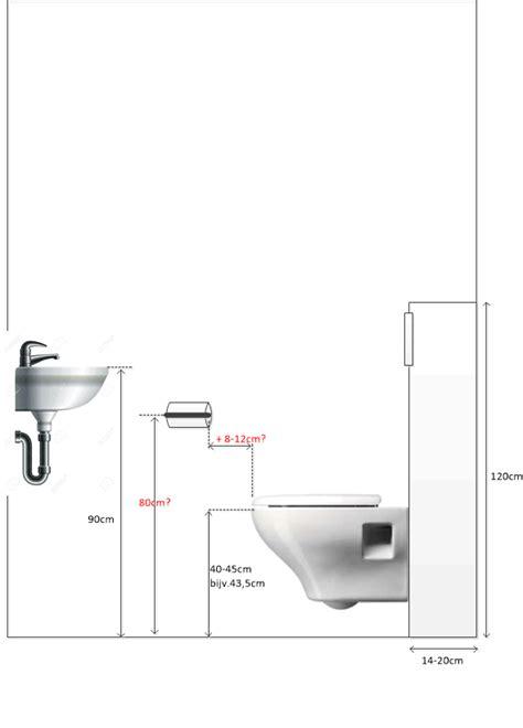 Afmetingen Staand Toilet afmetingen toilet toiletrolhouder