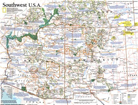 map us southwest southwest usa map