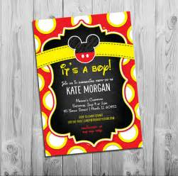 Free Mickey Mouse Baby Shower Invitation Templates by Mickey Mouse Baby Shower Invitations Boy Baby Shower