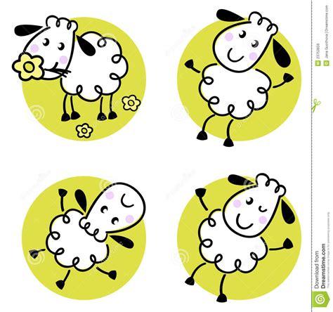 doodle jump x2 doodle sheep set stock vector image of black