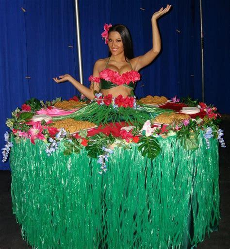 quinceanera themes hawaiian hawaiian style strolling table diva by j d entertainment